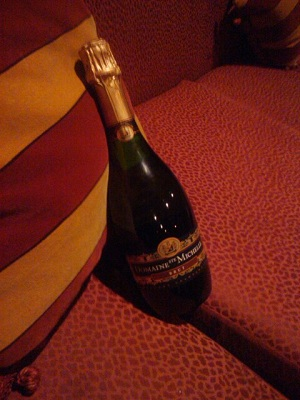Champagne from the famous victory