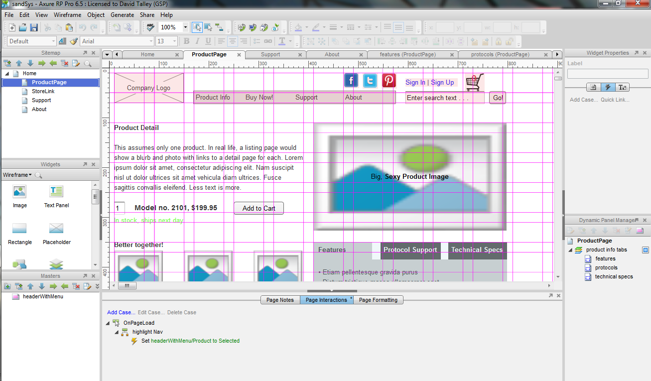 axure wireframes